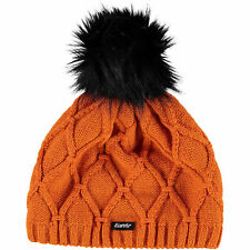 EISBAR Madita Lux Ski Winter Beanie Hat Merino Wool - Burnt Orange - Adult Size
