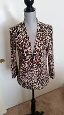 Macy's CHARTER CLUB Animal Print  Cardigan Size S