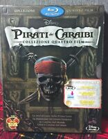 Pirati Dei Caraibi Collezione Quattro Film Blu Ray 5 Disc Sigillato Come Foto N