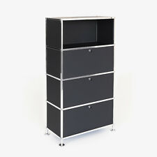 Aktenregal Büroregal Aktenschrank Büroschrank design | schwarz Highboard 4 D