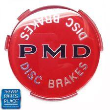 1970-72 Pontiac GTO / LeMans PMD Wheel Cover Emblem W/ Disc Brakes Red - Each