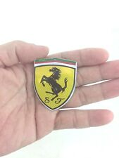 FERRARI EMBLEM STICKER LOGO ฺBADGE RESIN DECAL REFLECT 4 X 5 CM.