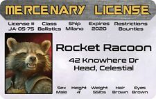 Halloween Costume Gear Rocket Racoon Guardians of the Galaxy drivers License