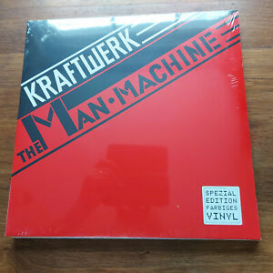 KRAFTWERK MAN MACHINE LP 180GM RED VINYL   MINT