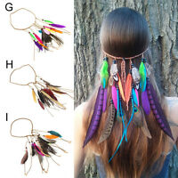 Fashion Bohème Festival de plumes bandeau hippie coiffure Accessoires cheveux