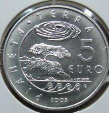 manueduc   SAN MARINO 2008   5 EUROS PLATA  925 mm. NUEVA