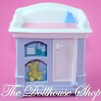 Fisher Price Loving Family Dollhouse Nursery Blue Baby Doll's Changing Table