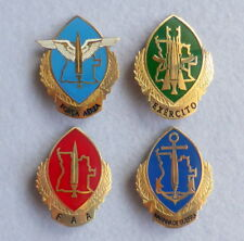 Set of 4 military Angola Africa ARMY NAVY AIR FORCE FAA badges