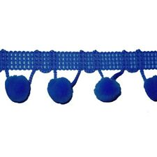 "Pom Pom Fringe Trim 1/2"" Ball Top Quality 6 Yard Bolt ROYAL BLUE FREE SHIP USA"