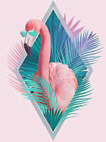 5D Full drill Diamond Painting Animal Flamingo Feather Fashion Handicraft 7046X