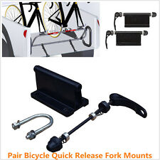 2Pcs Bicycle Alloy Fork Mount Quick Release Pickup Truck Bed Rack Carrier Holder