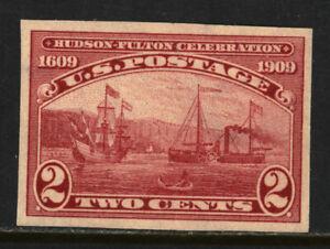 SCOTT #373 1909 2 CENT HUDSON-FULTON CELEBRATION ISSUE MNH OG VF CAT $40!