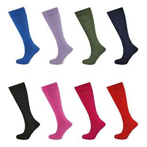 Womens Plain Wellington Boot Long Socks Ladies Gardening Fishing Welly Liner 4-8