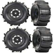 Traxxas 8475 Mounted Paddle Tires / Wheels (4) Unlimited Desert Racer