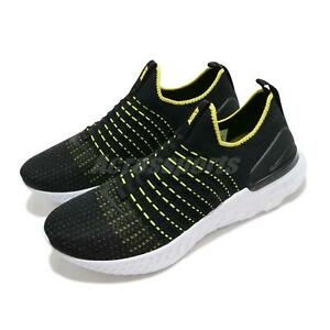 Nike React Phantom Run FK 2 Flyknit Black Yellow White Men Slip On CJ0277-004