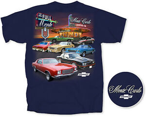 Chevrolet The Full Monte Carlo Drive-In Men's T-Shirt Navy SS 454 1970 1971 1985
