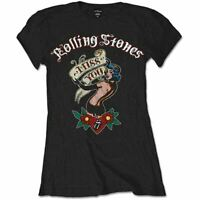 Ladies The Rolling Stones Miss You Black T-Shirt - Womens Rock Music Tee