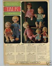 1968 PAPER AD Mattel Mrs Beasley Doll Randi Reader Baby Whisper Drowsy Negro