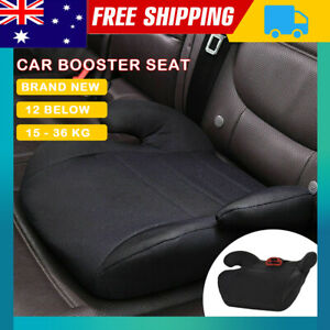 3-12 Years Car Booster Seat Chair Cushion Pad Toddler Children Kids Sturdy Black