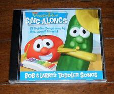 CD: VeggieTales - Bob and Larry's Toddler Songs 15 Sing Along 2005 Big Idea Kids