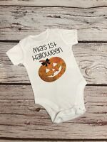 Personalised Baby First Halloween Bodysuit Vest Any Name Pumpkin Gift 1st
