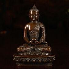 """3"""" Antique Tibetan Buddhist  Bronze Hand Carved Amitabha Statue"""