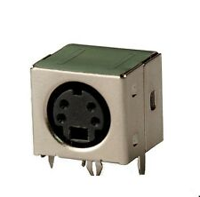 Mini DIN Buchse 4-polig vollgeschirmt Printmontage, abgewinkelt , S-Video, 1St.
