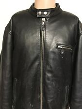 USA BIKERS DREAM APPAREL LINED LEATHER JACKET Size 52 BLACK Full-Zip USA MADE