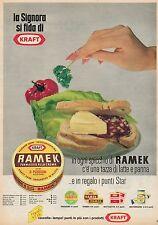 J0412 KRAFT - Formaggio alla crema Ramek - Pubblicità formato grande 1964 - Ad