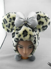 Disney World Mickey Mouse Spots Plush Soft Hat Cap With Costume / Leopard New