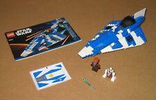 8093 LEGO Star Wars Plo Koon's Jedi Starfighter 100% Cmplt w Manual EX COND 2010