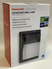 Honeywell LED Lighting Security Wall Light Black 4000 Lumen FREE SHIPPING