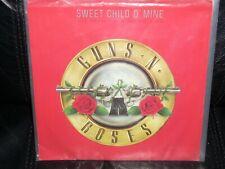 "GUNS N ROSES sweet child o'mine ( rock )  7"" / 45 picture sleeve"