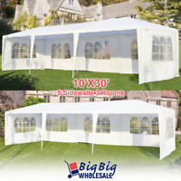 10'x30' Wedding Outdoor Canopy Gazebo Tent Heavy Duty Party Patio 5-Windows