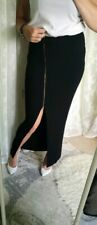 Ladies Lipsy Black Side Split Maxi Skirt Size 10