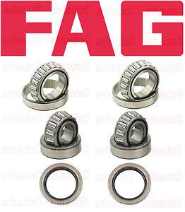 Porsche Front Wheel Bearing Kit FAG Inner Outter Seals 356 911 914 930 944
