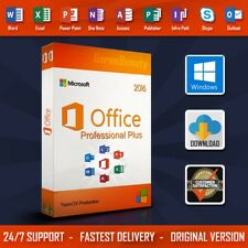 100% GENUINE MS MICROSOFT OFFICE 2016 PROFESSIONAL PLUS LICENSE KEY | LIFETIME