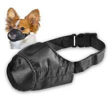 Muselières noir en tissu pour le dressage des chiens