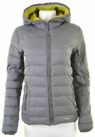 FILA Womens Padded Jacket Size 14 Medium Grey Nylon  EI06