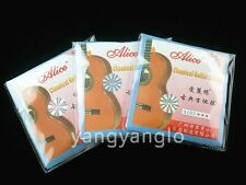 3 Sets of Alice A103-H Clear Nylon Silver Plated Coated Classical Guitar Strings