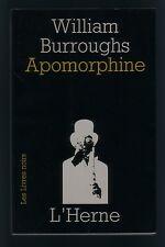 [beat generation] William Burroughs APOMORPHINE EO bel exemplaire
