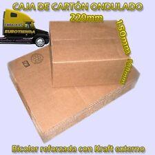 100 CAJAS CARTON REFORZADO KRAFT 220X150X100mm BICOLOR B2