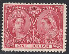 Canada $1 QV Diamond Jubilee, Scott 61, F-VF MH, catalogue - $900
