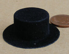 1:12 Scale Black Cordoba Top Hat Tumdee Dolls House Miniature Clothing Accessory
