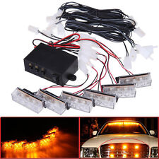 18 LED Amber Vehicle Car Emergency Warning Strobe Signal Light For Front Grille