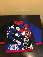 Vintage 90's Mighty Morphin Power Rangers Sweater Knit Rare Collectors Shirt