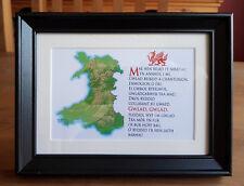 Framed Welsh National Anthem