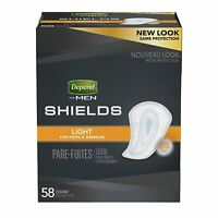 Depend Shields for Men Light 58 Count TORN PACKAGE BULK PACKED A195