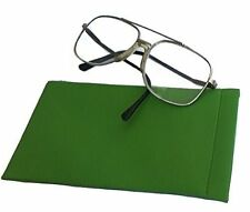 Spectacle Case / Soft Spring Top Glasses Sleeve Standard Size Green - S0l
