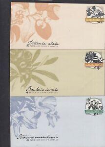 Australia 1988 Flowers Flora of Capt Cook's Voyages Pre-stamped Envelopes mint